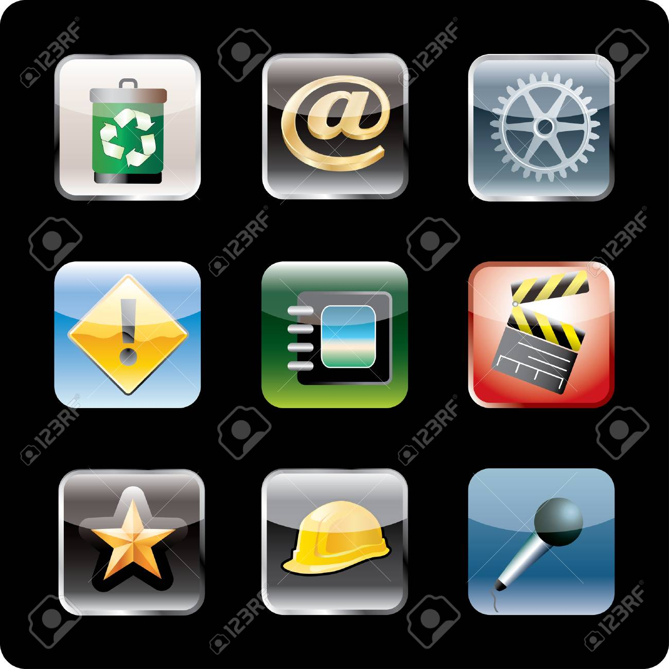 icons for smart phone Stock Vector - 8620801
