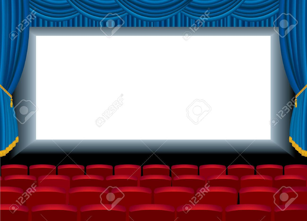 illustration of the empty cinema with free bottom layer for your image Stock Vector - 8664876