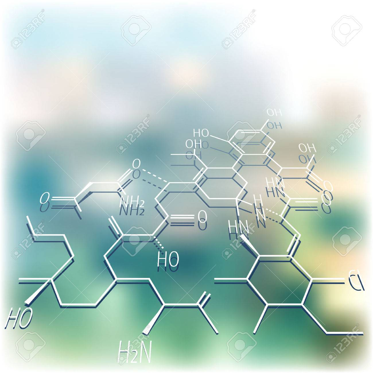 vector abstract mackground with chemistry structure Stock Vector - 8846341