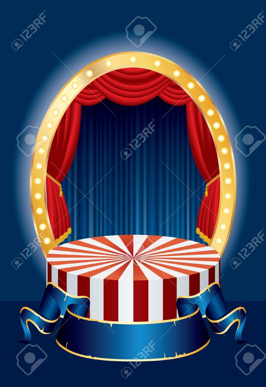 vector illustration of the small circus stage Stock Vector - 9440519