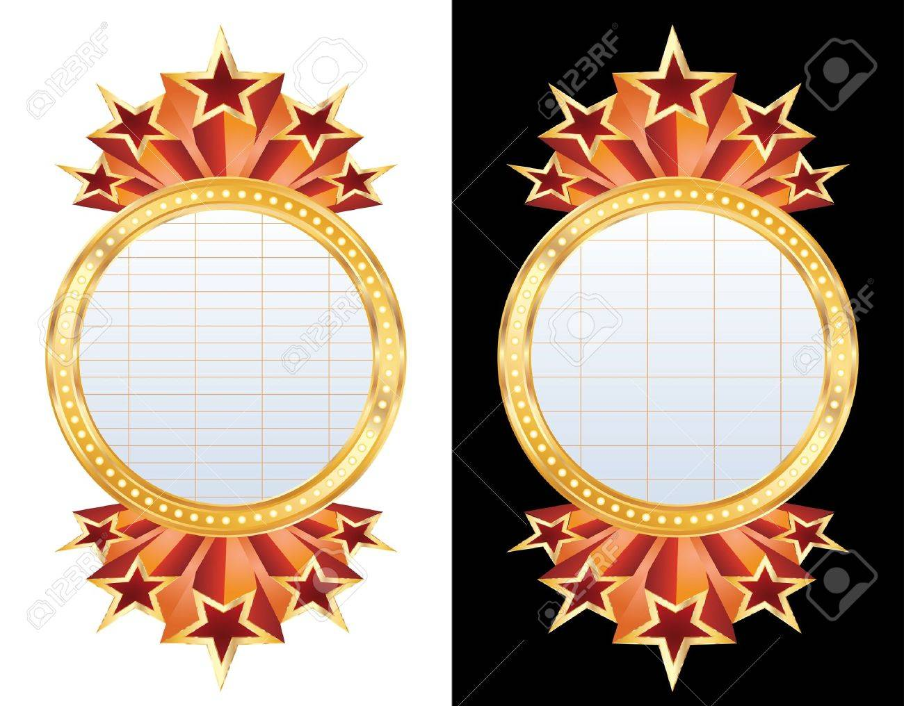 two vector blank circle billboards Stock Vector - 9705420
