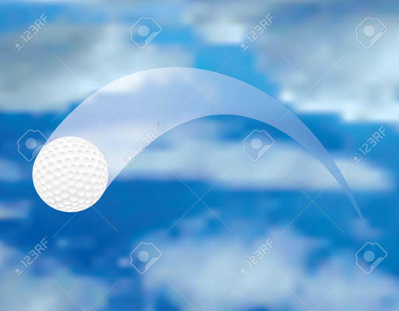 vector illustration of the flying golf ball Stock Vector - 10762891