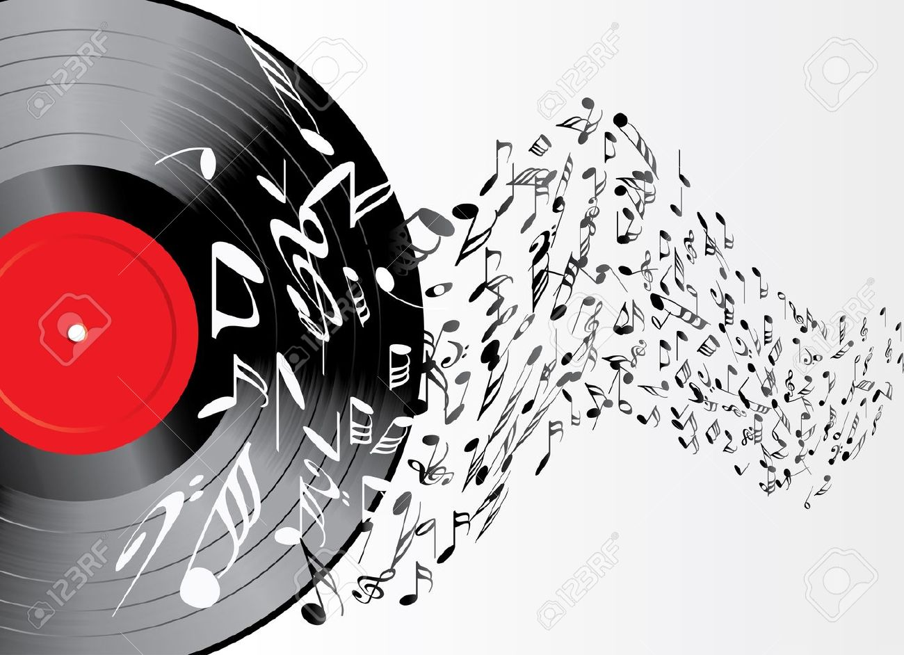 music background with vinyl record Stock Vector - 12204658