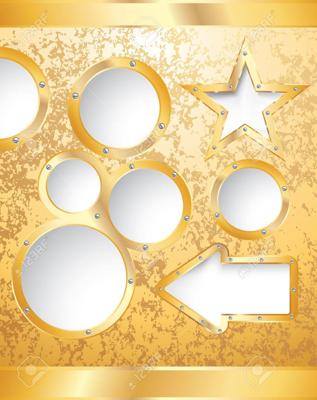 golden template for diverse business Stock Vector - 15417019