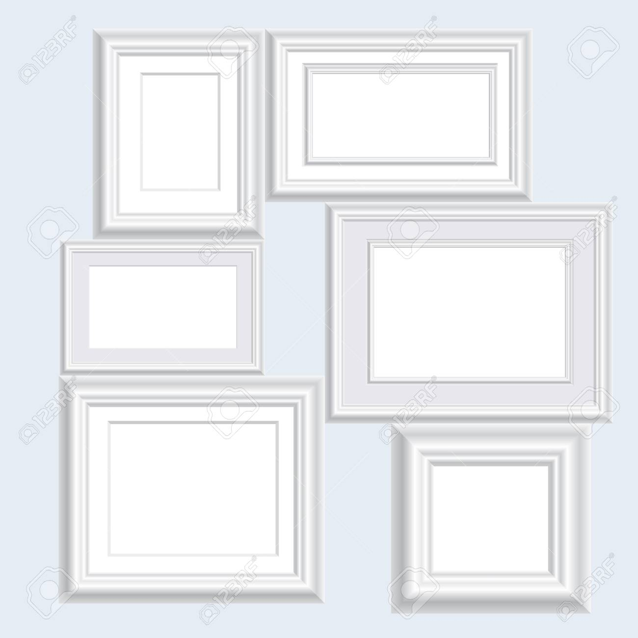 Six Blank White Frames Royalty Free Cliparts, Vectors, And Stock ...