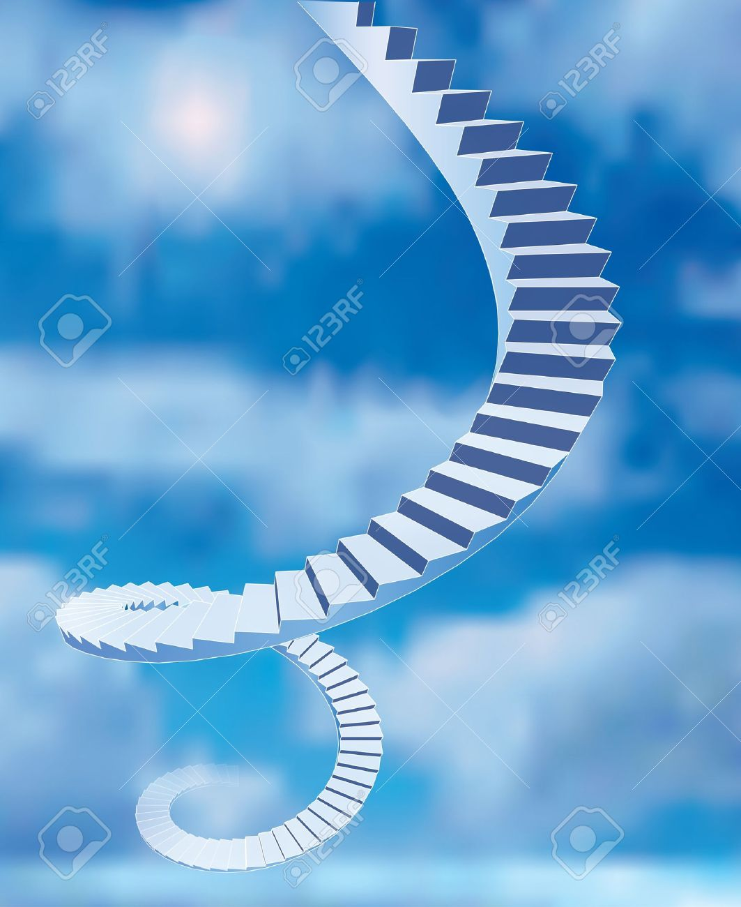 vector abstract stairs to heaven Stock Vector - 17779370