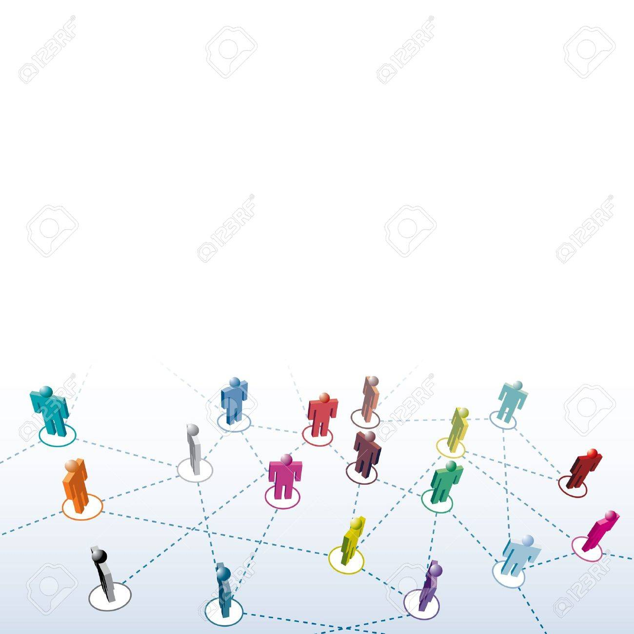 different people connection Stock Vector - 17932331