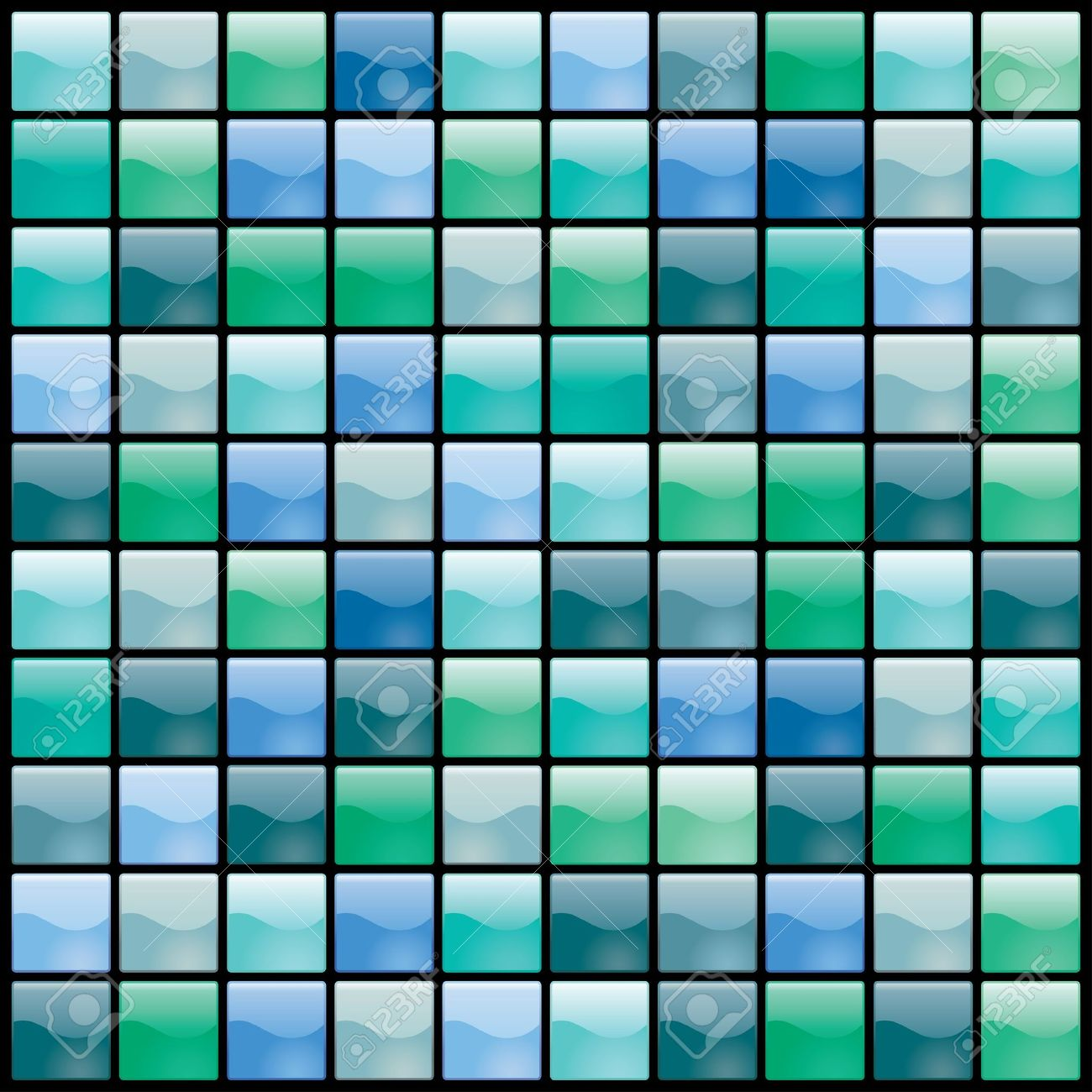 vector shiny tiles seamless pattern in green and blue Stock Vector - 21004617