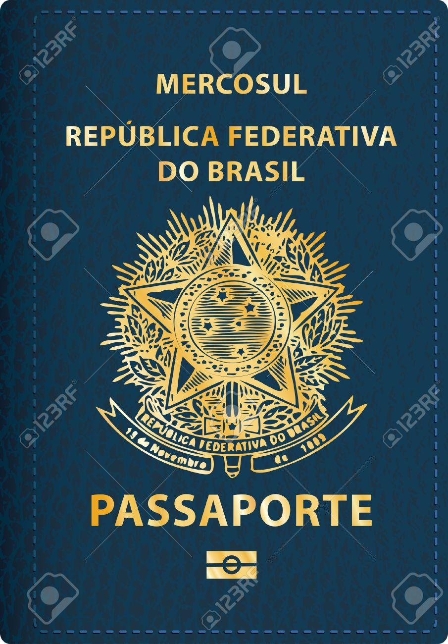 vector Brazilian passport cover - 30897569