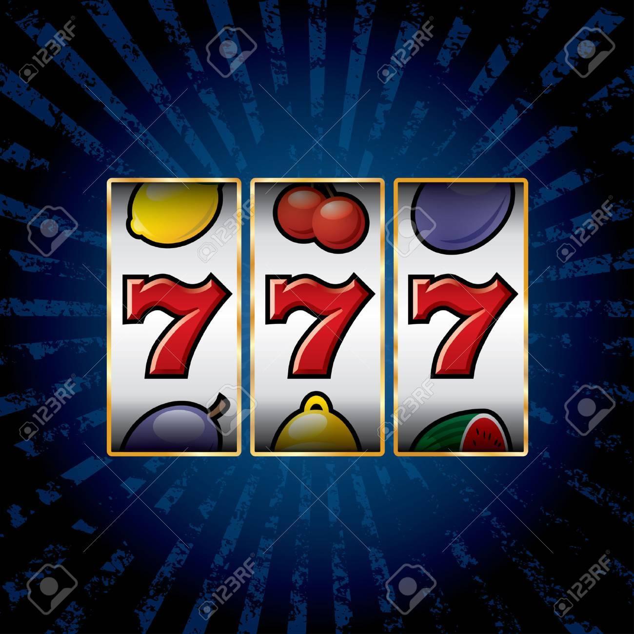 vector jackpot triple sevens at slot machine - 33246221