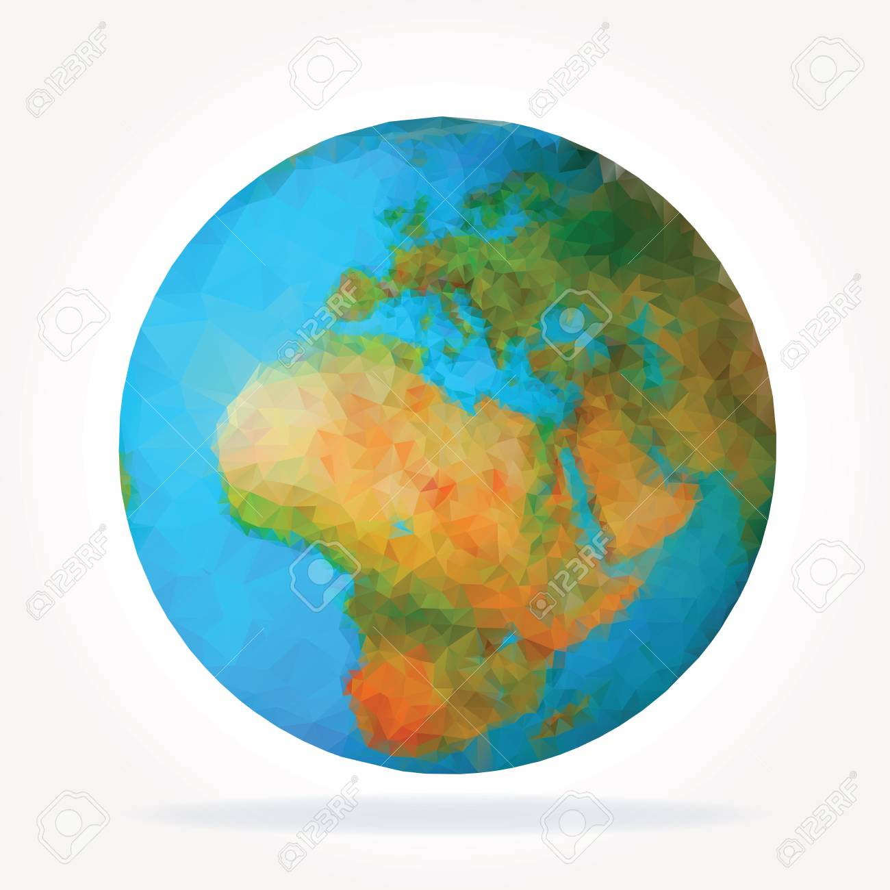 World globe 3d triangular map of the earth modern elements vector world globe 3d triangular map of the earth modern elements of info graphics world map gumiabroncs Gallery