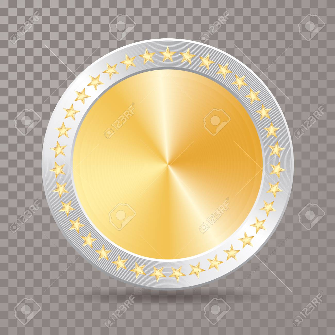 Vector Blank Gold Medal With Silver Frame And Stars Champions Royalty Free Cliparts Vectors And Stock Illustration Image 94687491