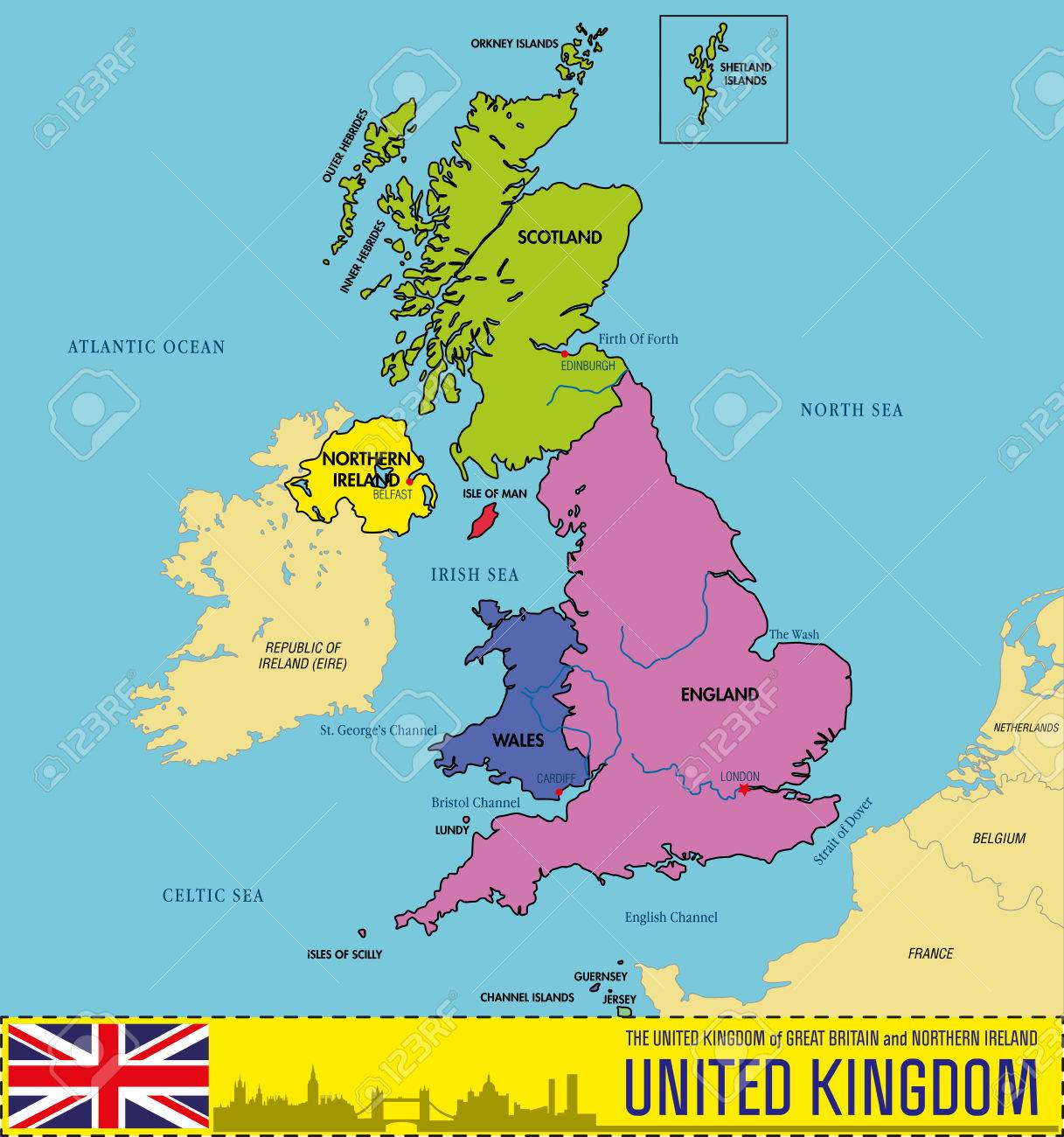 Vector political map of the united kingdom of great britain and vector vector political map of the united kingdom of great britain and northern ireland with regions and their capitals all elements are separated in gumiabroncs Image collections