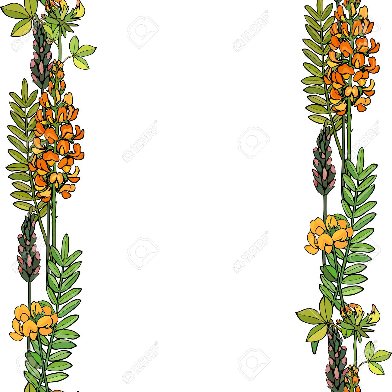 Seamless background with flowers. Perfect for greeting card. Vector illustration, EPS 10 - 124835056