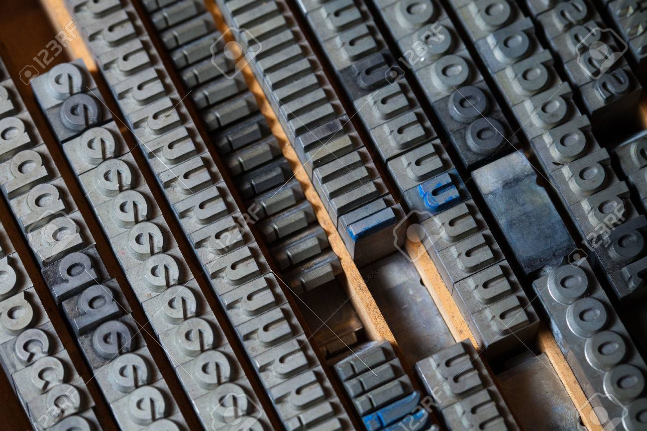 Old Metal Letters Interesting Old Vintage Metal Printing Press Letters Stock Photo Picture And Inspiration Design