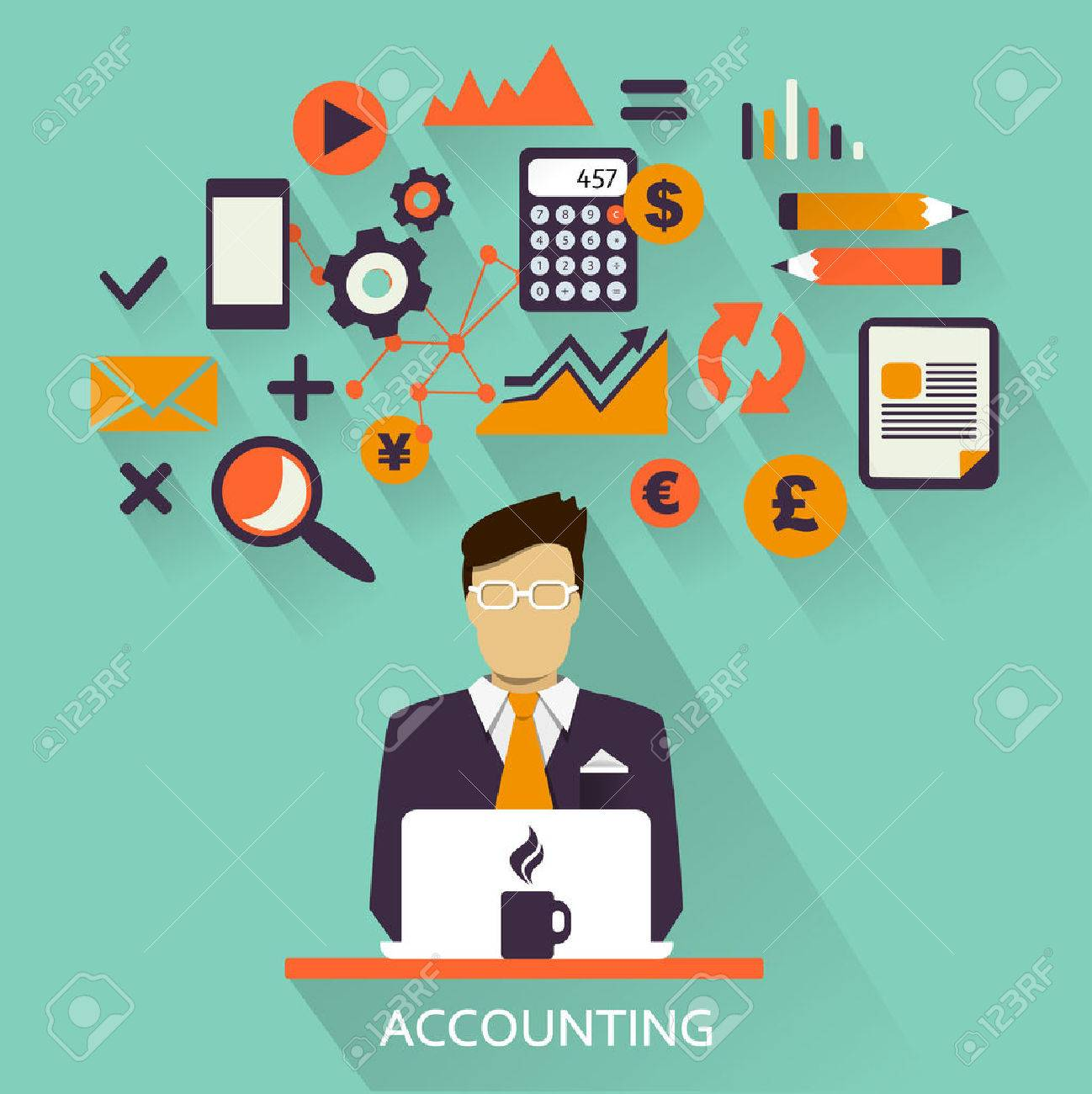 of freelance career accounting stock vector photo 30149928 stock vector flat design of freelance career accountinghtml freelance bookkeeper how to get