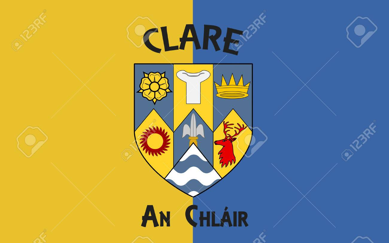 flag of county clare is a county in ireland in the mid west