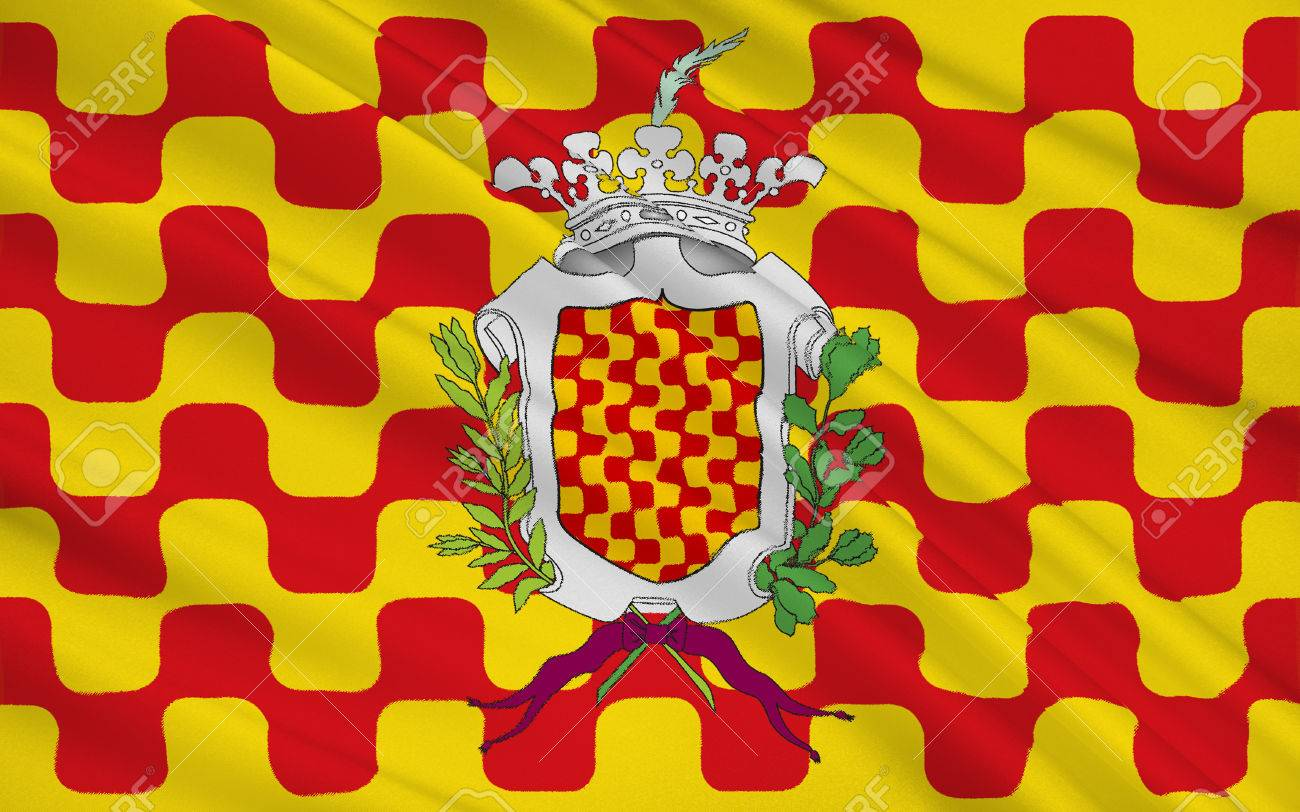 Flag Of Tarragona Is A Port City Located In The Northeast Of - Where is spain located