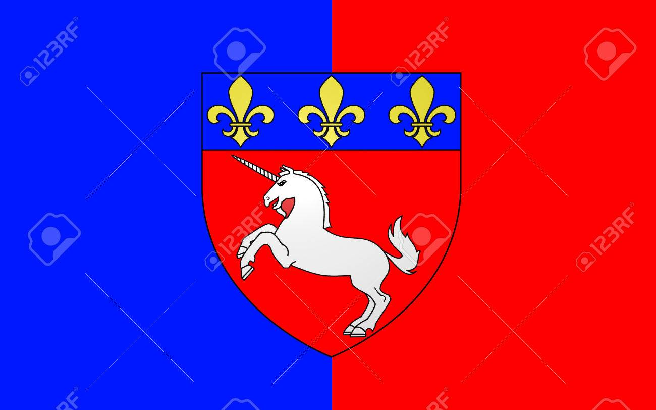 サンローの旗は、北西フランス、...