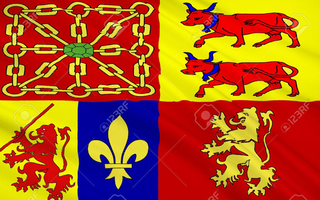 Flag of pyrenees atlantiques is a department in aquitaine southwest flag of pyrenees atlantiques is a department in aquitaine southwest of france stock buycottarizona Gallery