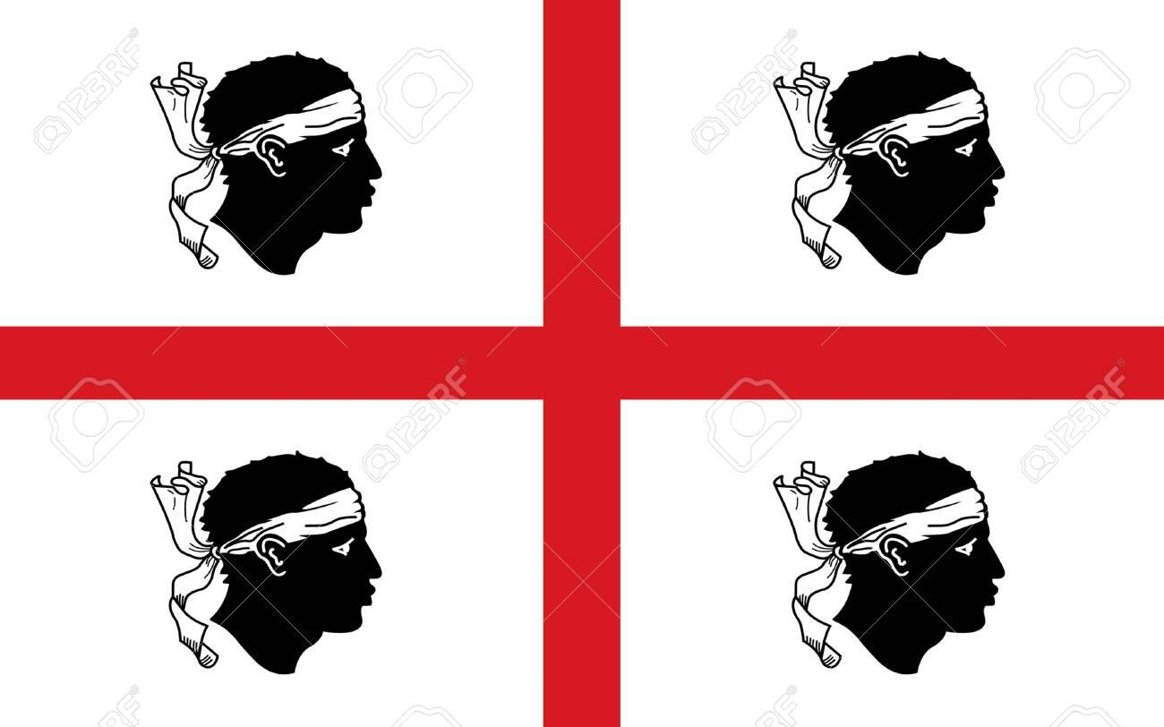 Bandiera Della Sardegna E La Seconda Isola Piu Grande Del Mar