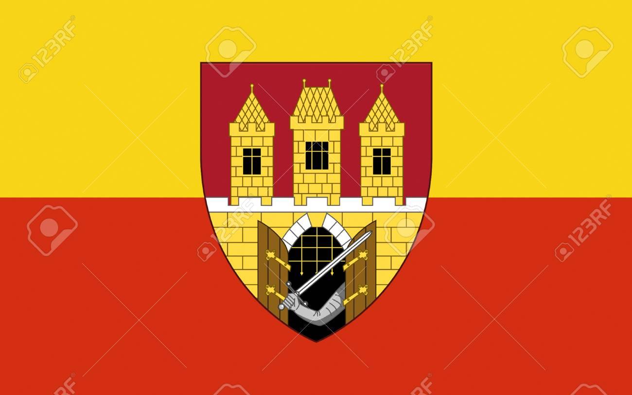 Immagini Stock Bandiera Di Praga E La Capitale E Citta Piu Grande Della Repubblica Ceca Image 57106371