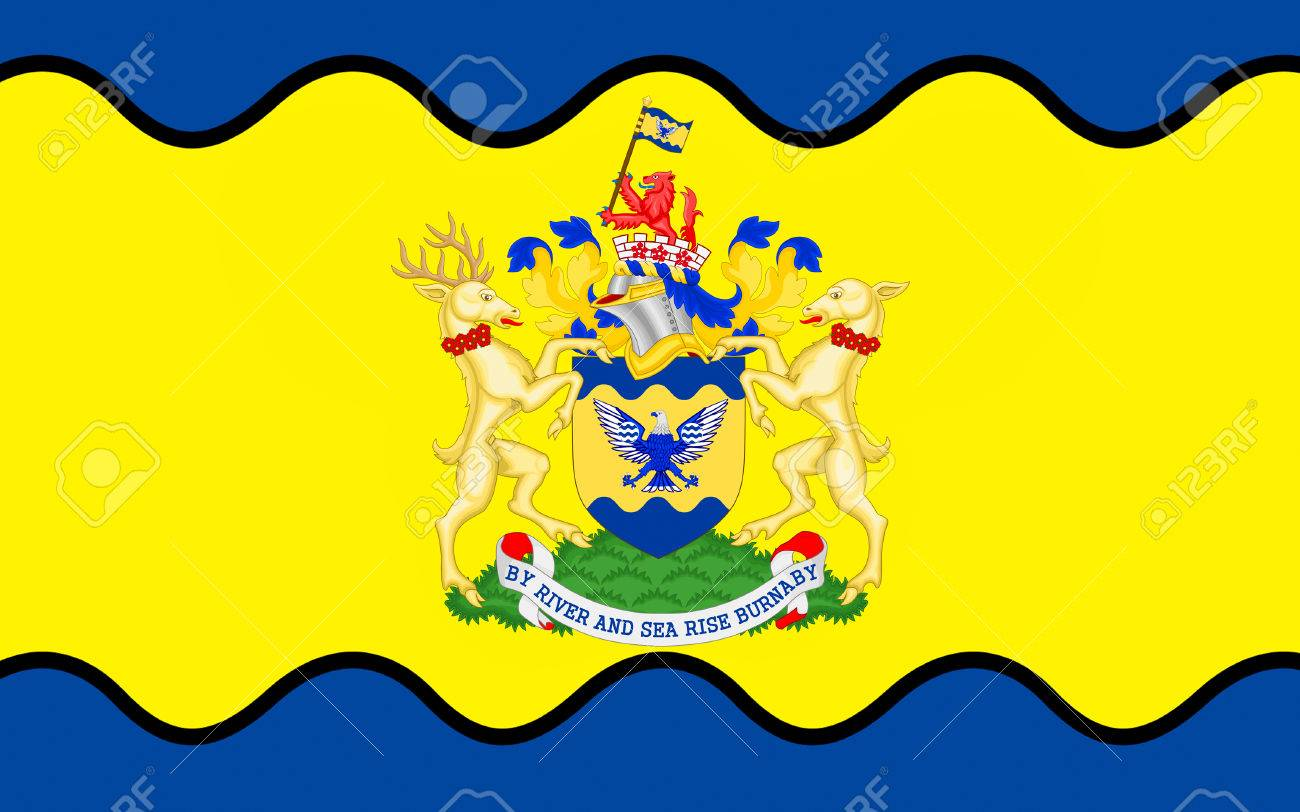 Flag Of Burnaby Is A City In British Columbia Canada Located