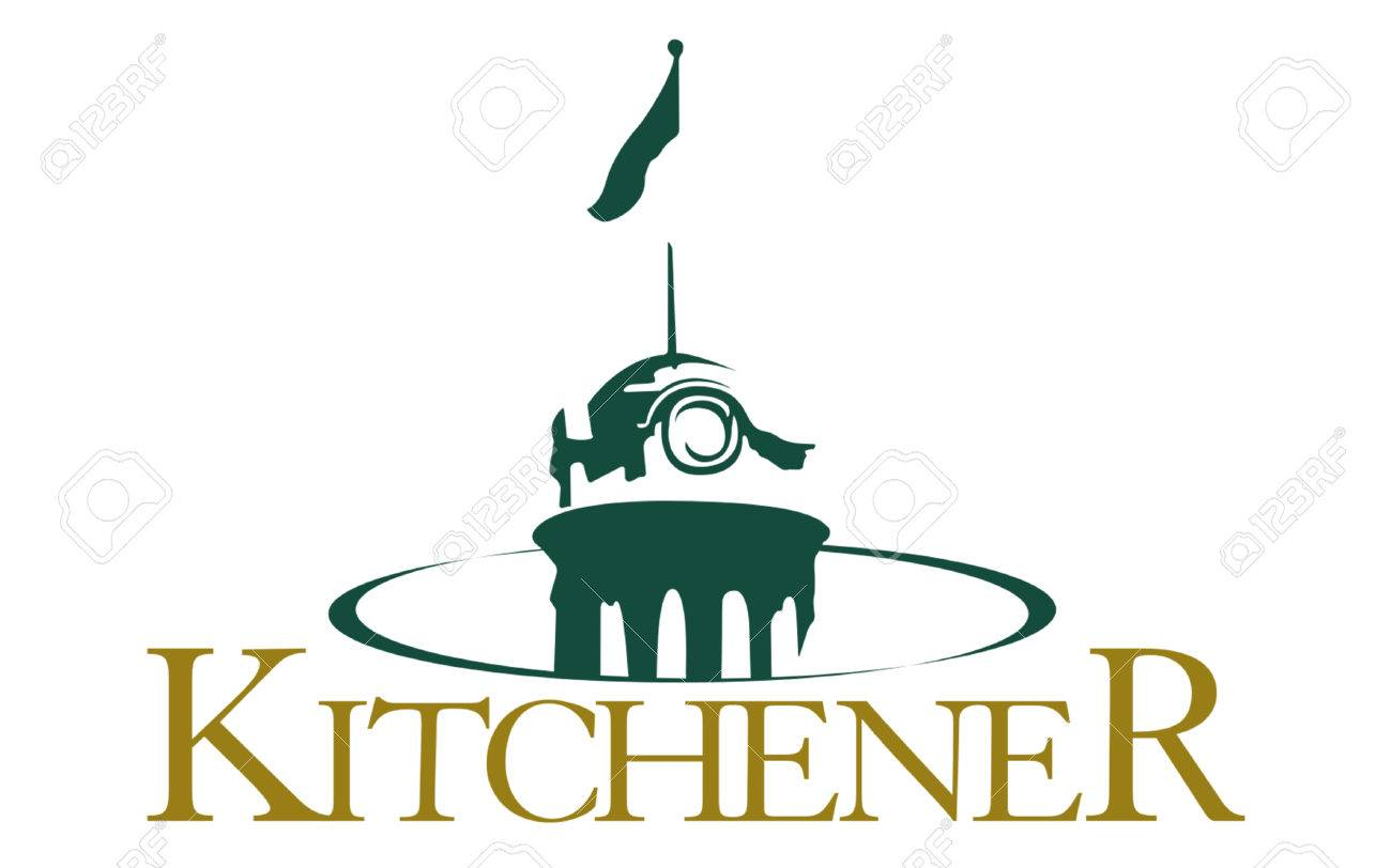 Flag Of City Of Kitchener Is A City In Southern Ontario, Canada ...