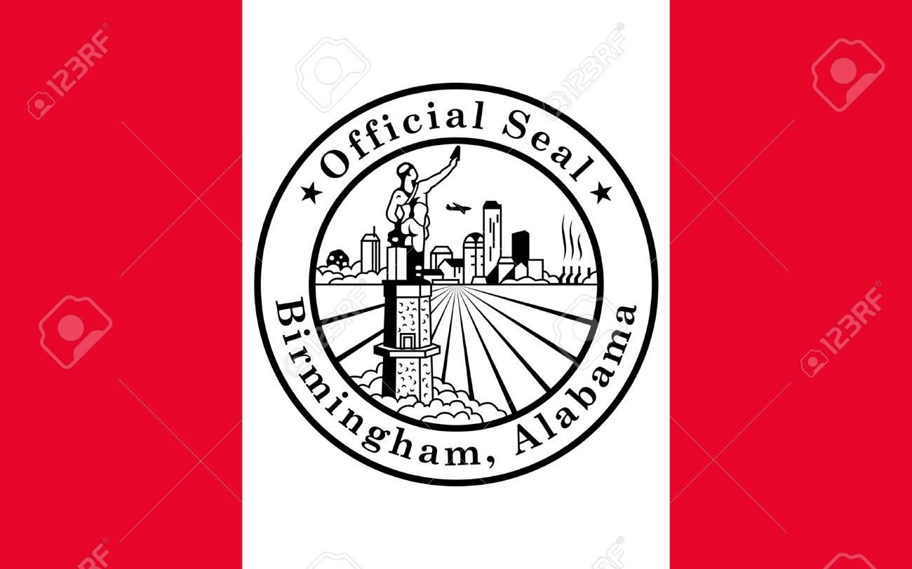 バーミンガムの旗は米国アラバマ州で最大の都市です。都市は ...