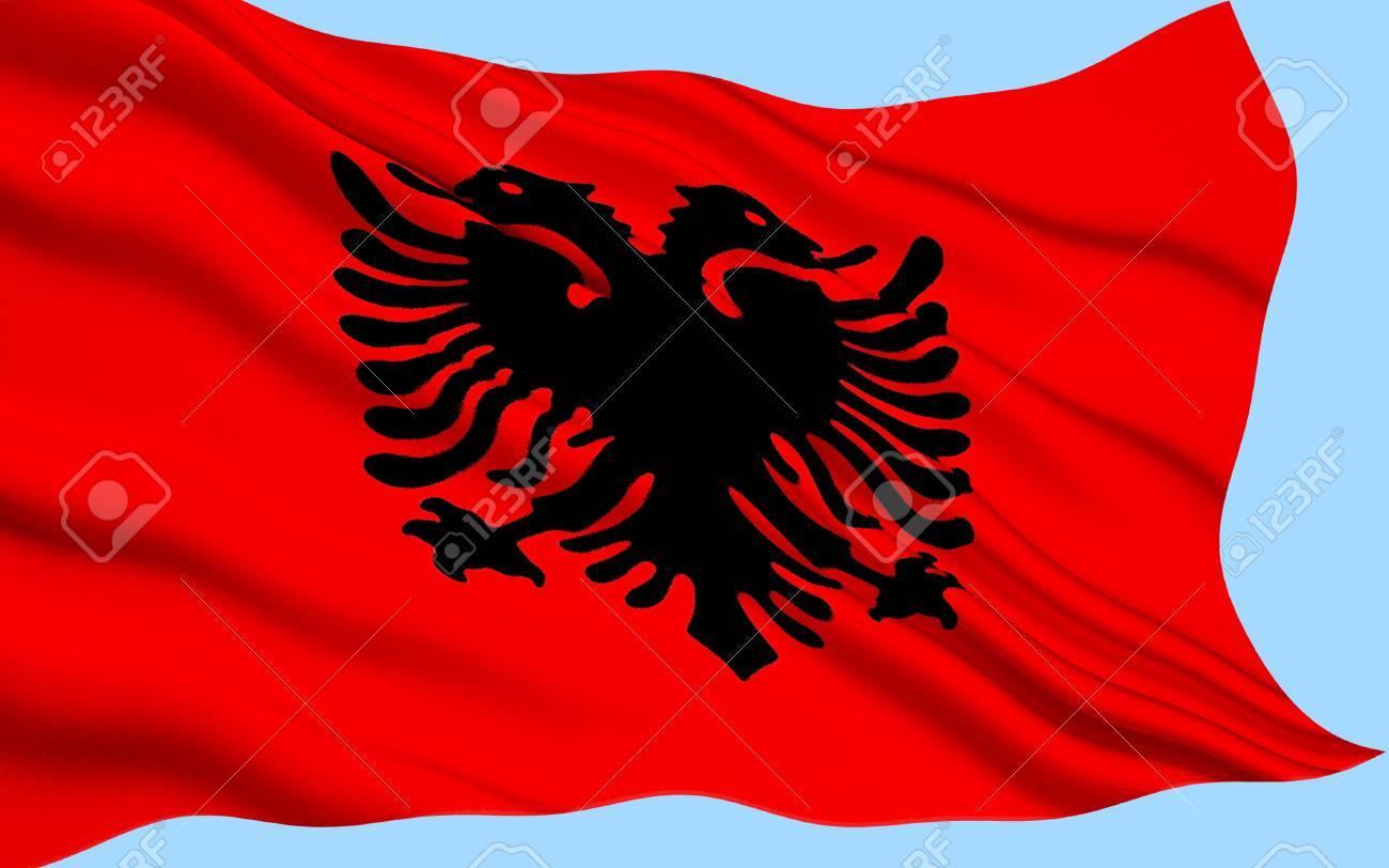 Albania Bandera. Amazing Banderas De Albania Y Suiza Ilustracin De ...
