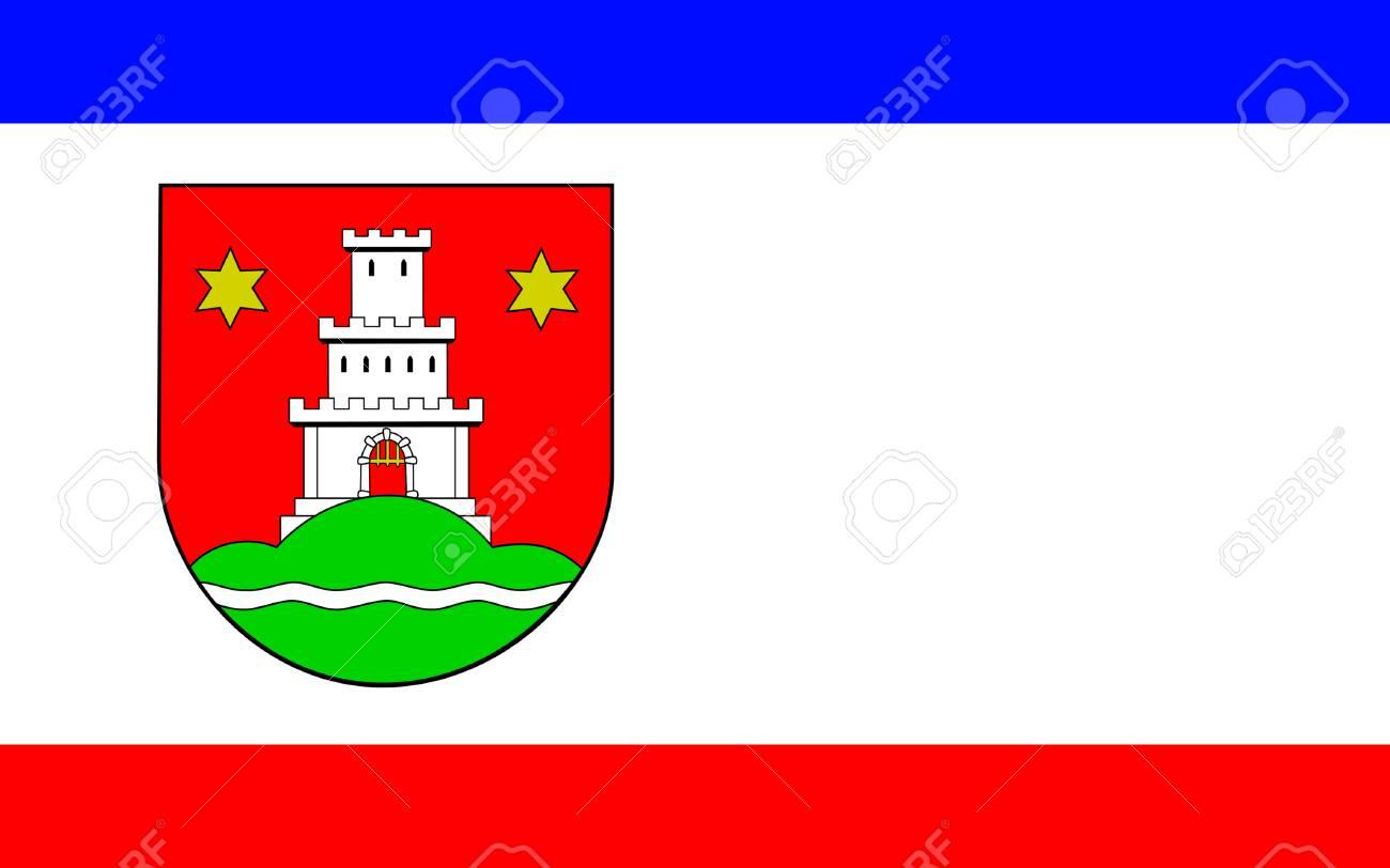 Pinneberg の旗はドイツのシュレースヴィヒ = ホルシュタイン州の町 の ...