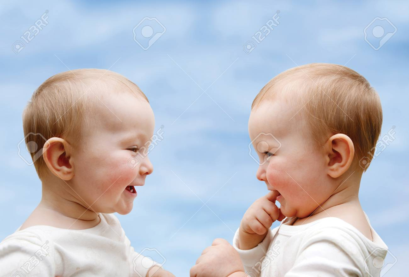 two little boys in the interview Stock Photo - 24865567