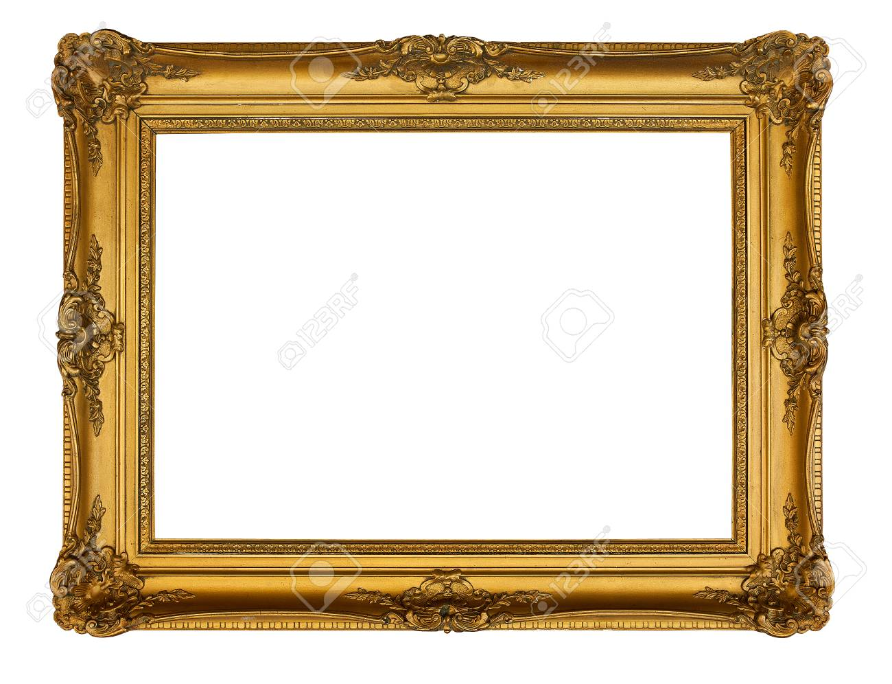 6fa3cd6cdd7 Photo beautiful old golden frame Stock Photo - 47309234