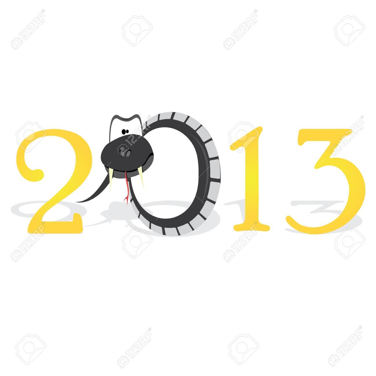 Year of black snake Stock Vector - 16538499