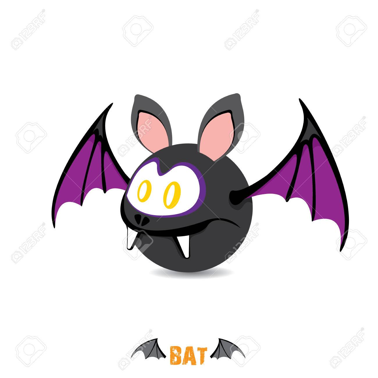 funny devil bat with wings. halloween character Stock Vector - 22576046