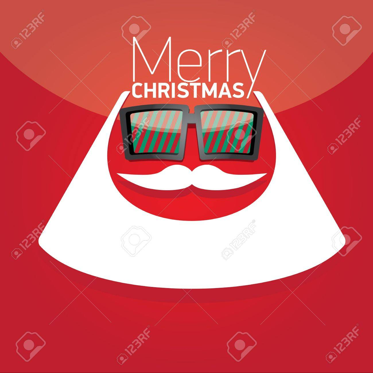 Vector Hipster santa poster for party or greeting card. Stock Vector - 23650645