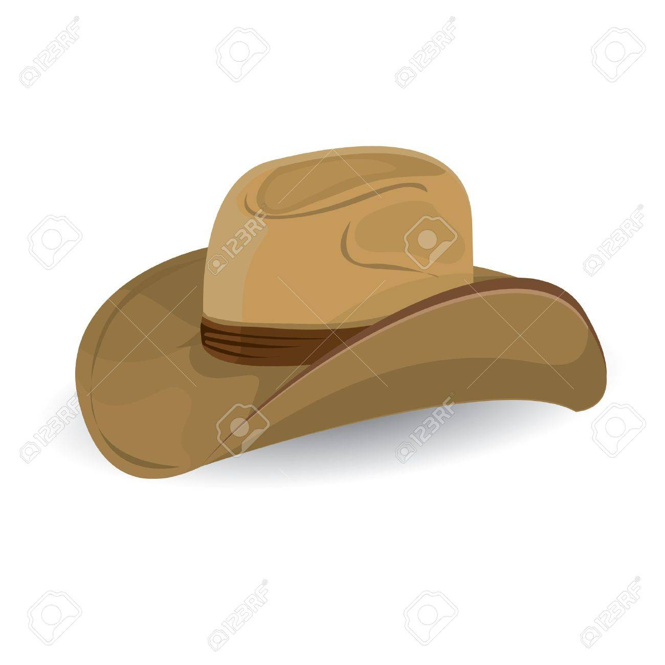 cowboy hat. vector illustration. Stock Vector - 23853767