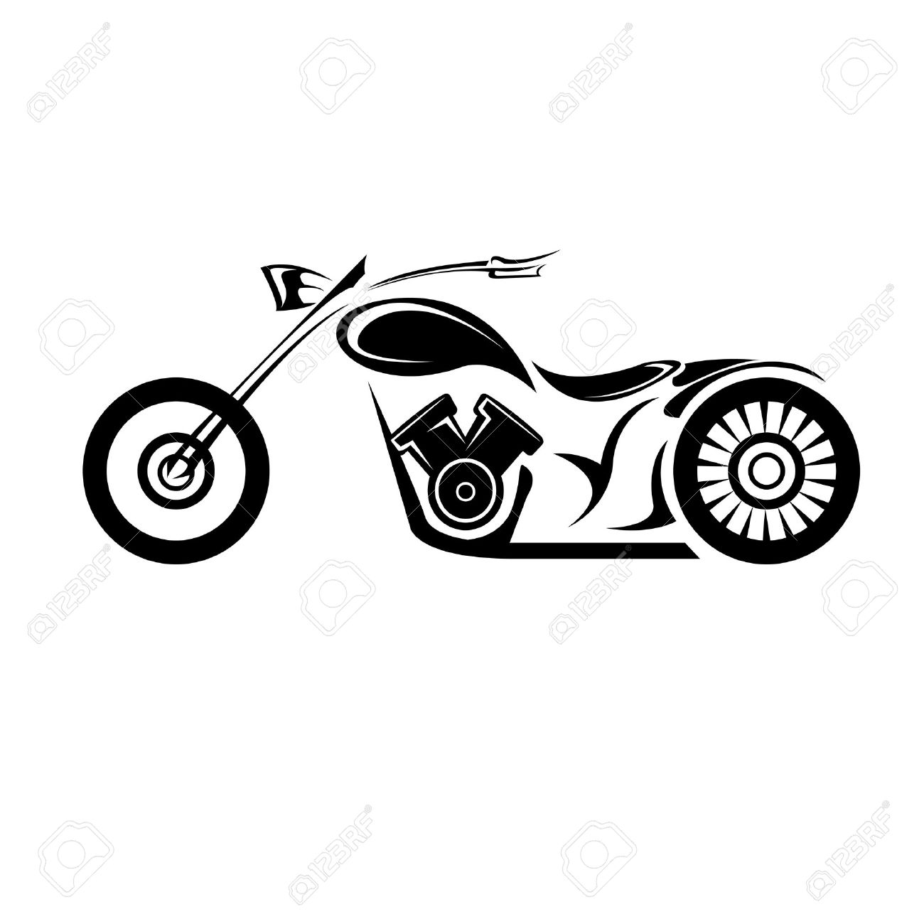 vector silhouette of classic motorcycle vector motorcycle icon rh 123rf com vector motorcycle deliverys vector motorcycle deliverys