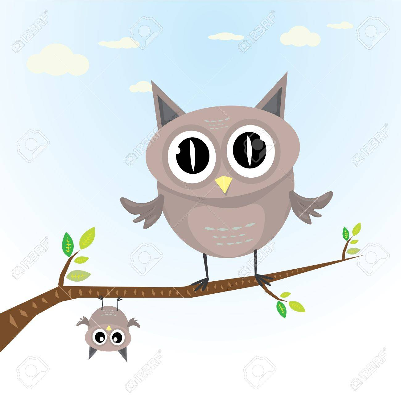 Vector Cartoon Cute Little Owl Bird On Tree Branch Royalty Free Cliparts Vectors And Stock Illustration Image 24454434 Over 672 hoot owl pictures to choose from, with no signup needed. 123rf com