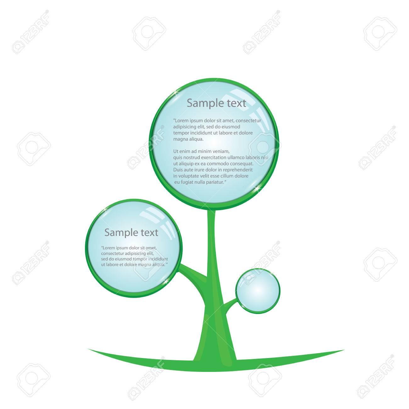 floral eco green button. bio green vector concept of life. Stock Vector - 24929809