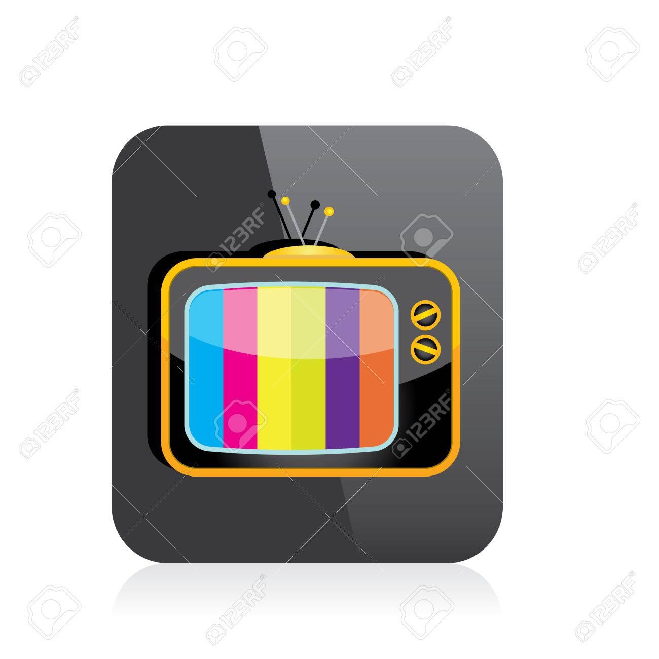 vector tv icon  online tv symbol  app icon