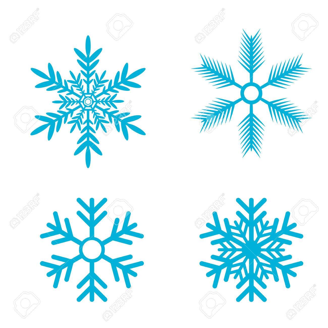 snowflakes vector set snow flake icon set royalty free cliparts rh 123rf com vector snowflakes free download vector snowflakes illustrator