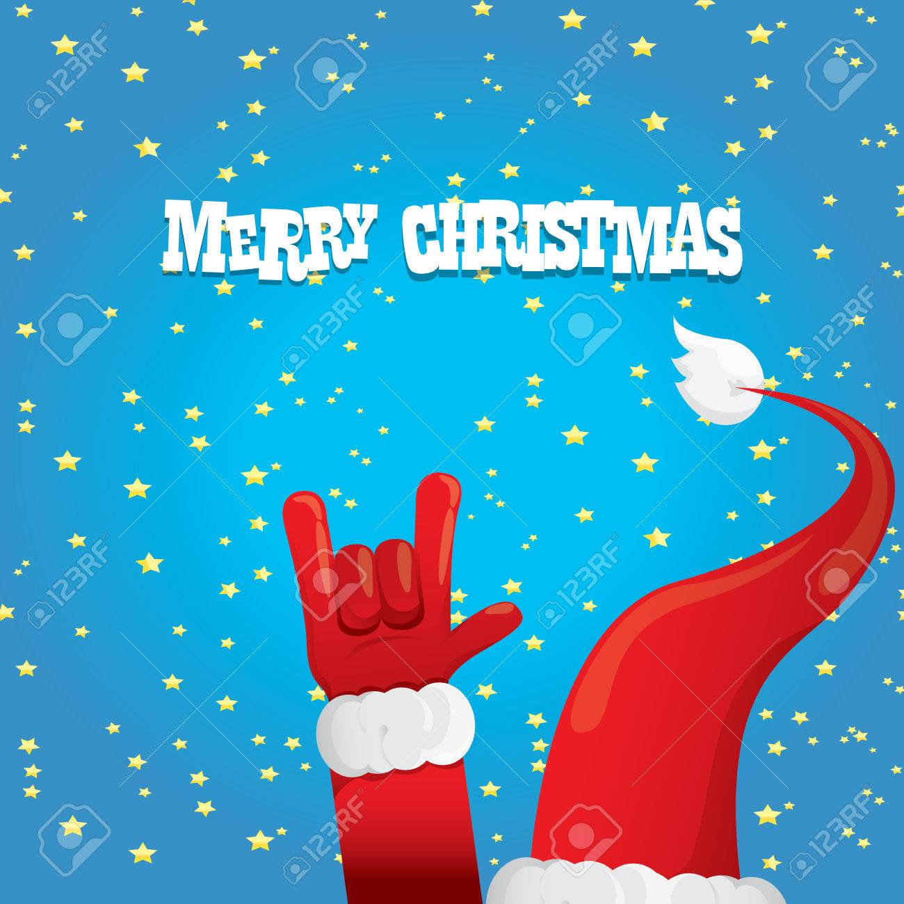 Weihnachtsmann Hand Rock N Roll Icon. Christmas Rock N Roll ...
