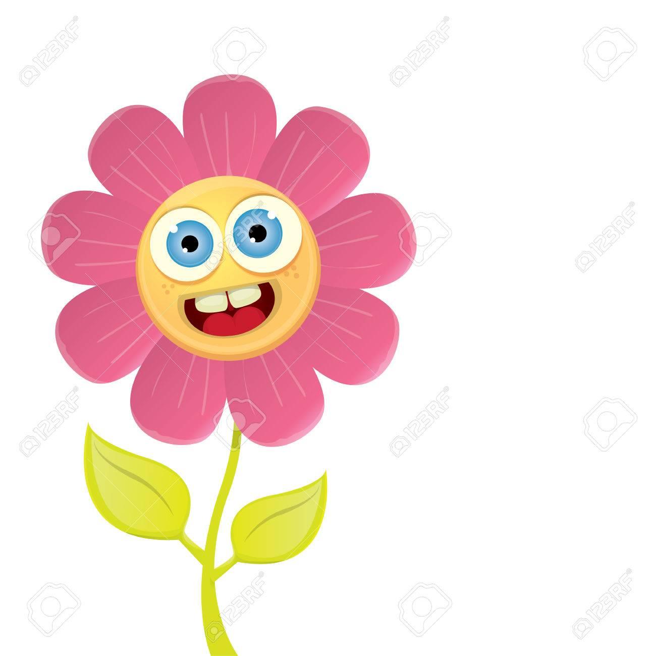 Flores Vector De La Primavera De Dibujos Animados Aislado En El