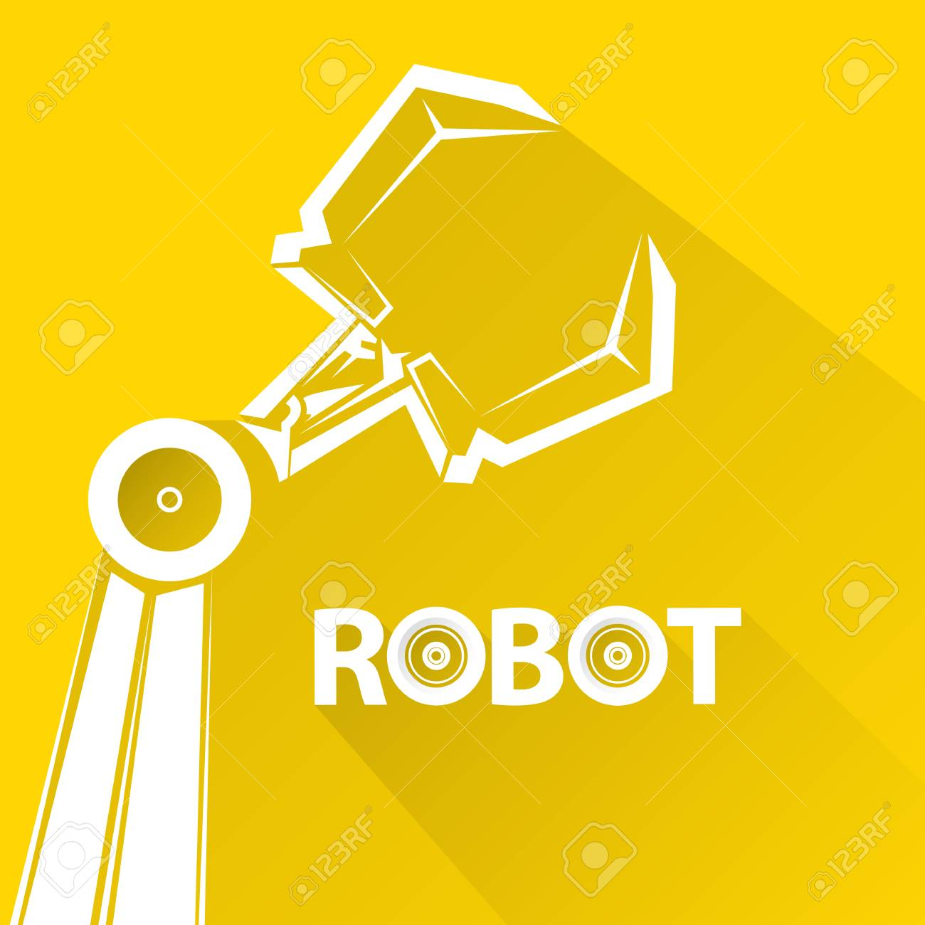 clean technology background design template vector robotic arm