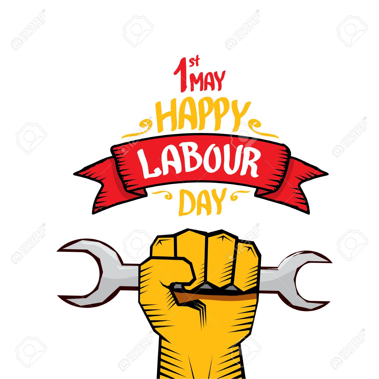 1 May Labour Day Vector Happy Labour Day Poster Or Workers