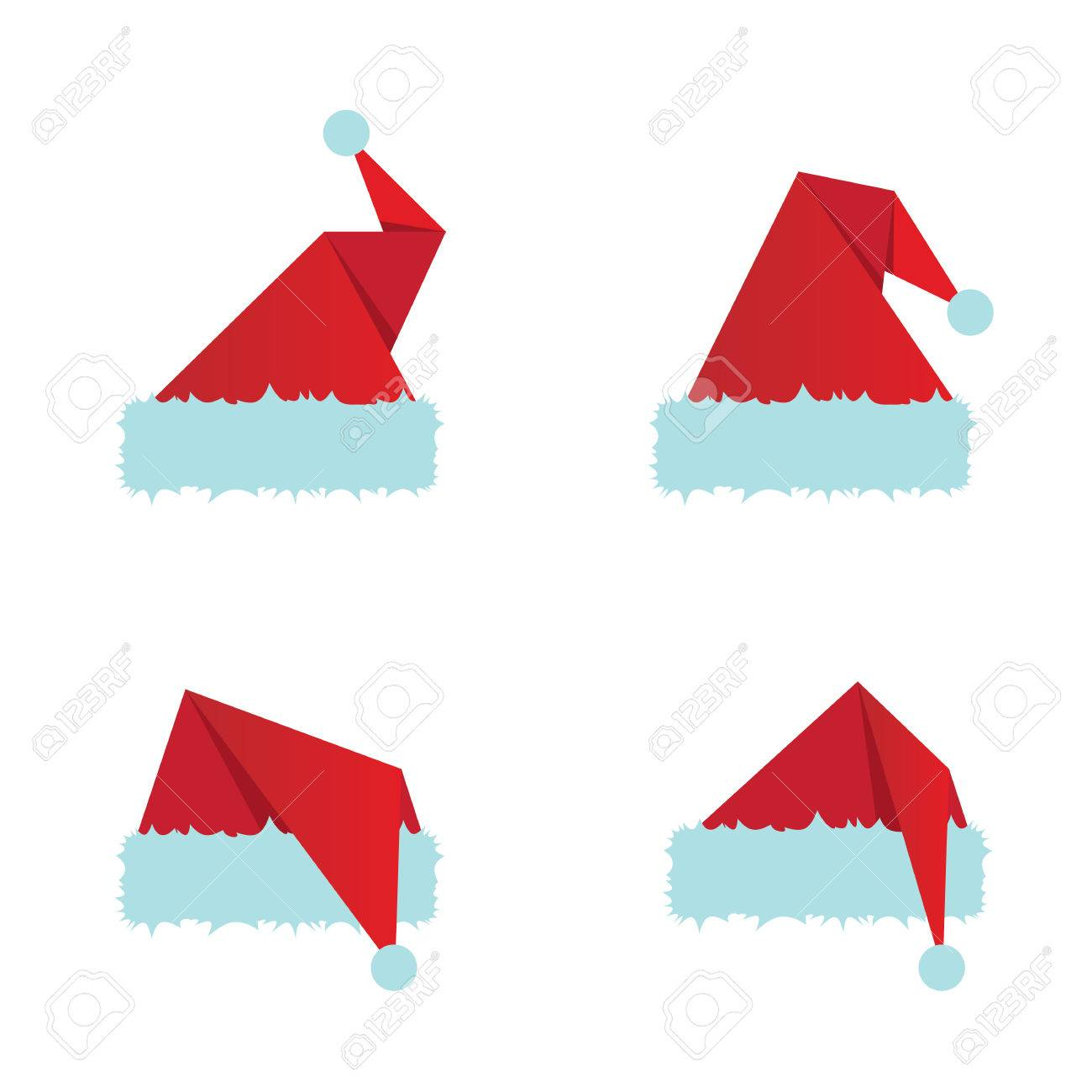 d5c57a84066a6 Red Santa Hat Flat Icon. Vector Illustration Royalty Free Cliparts ...