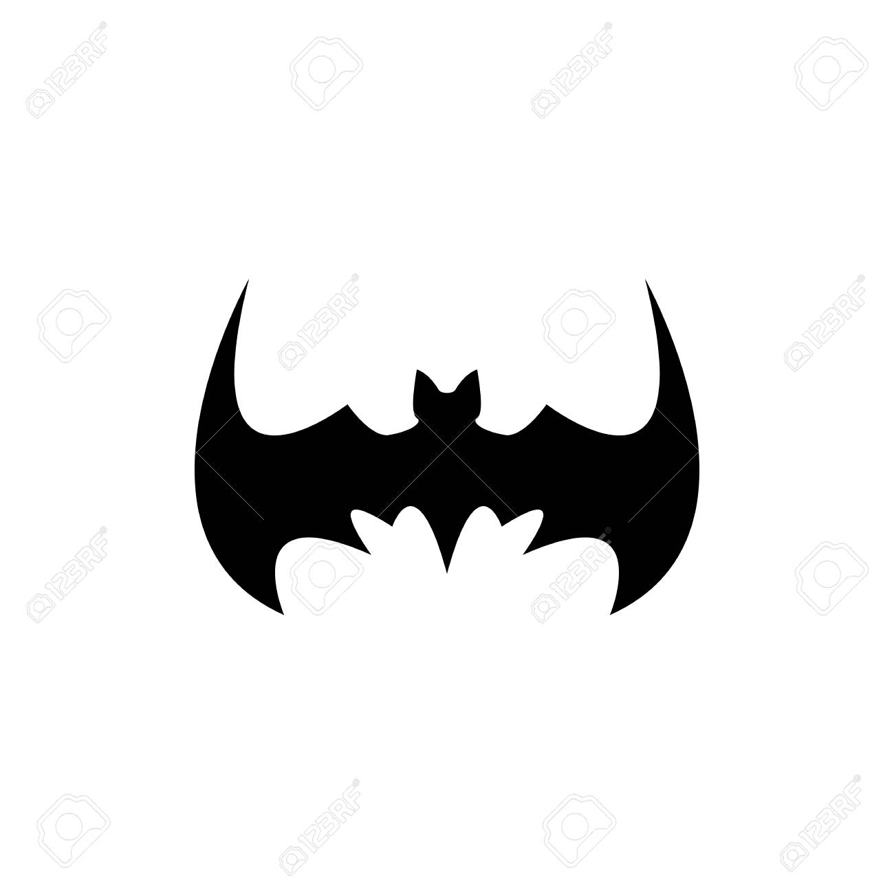 vector vector halloween black bat animal icon or sign isolated on white background vector bat silhouette with wings