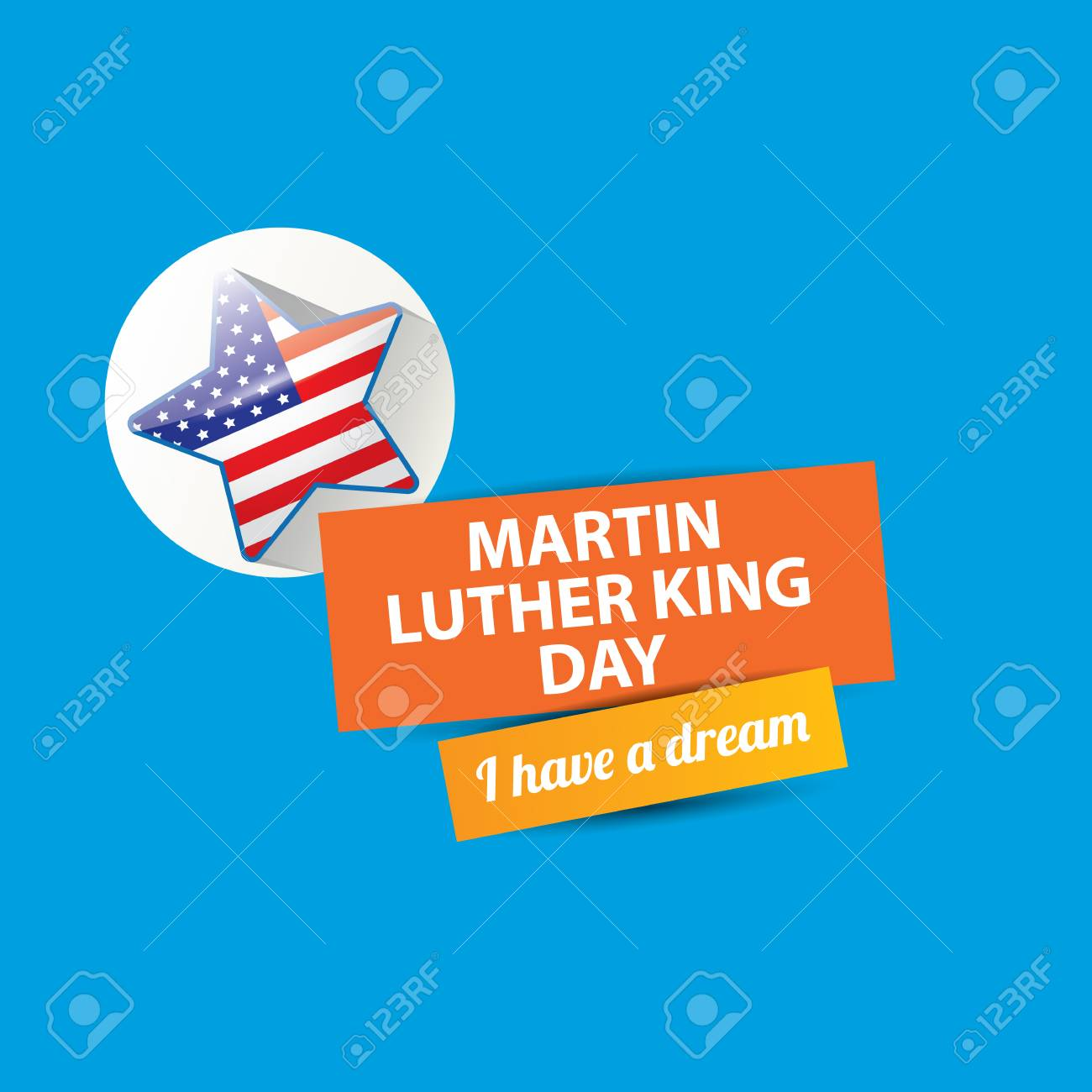 Vector Martin Luther King Jr Day Us Sticker Or Label Isolated