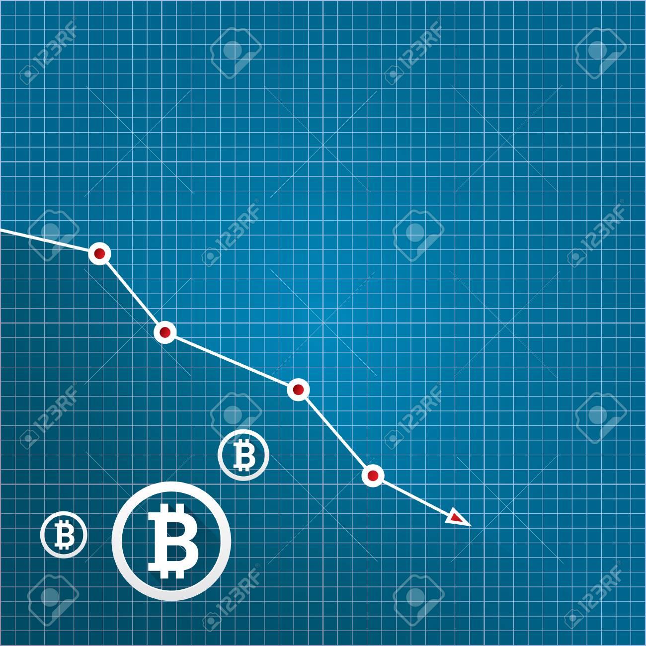 Vector bitcoin market crash graph on blueprint background bitcoin vector vector bitcoin market crash graph on blueprint background bitcoin hype concept vector illusrtation with blank space fo text depreciation of malvernweather Gallery